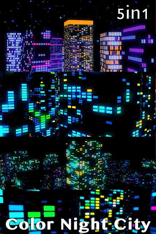 Color Night City Pack (5in1)