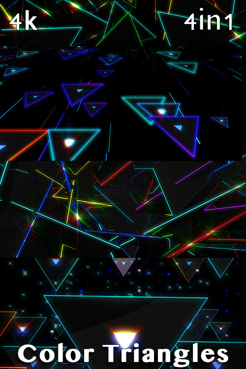 Color Triangles 4K (4in1)