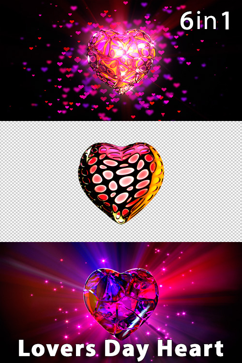 Lovers Day Heart (6in1)