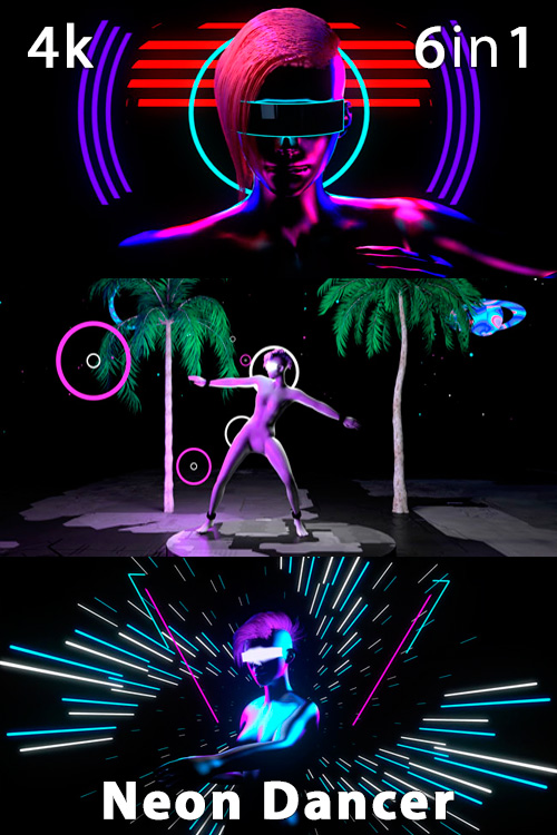 Neon Dancer 4K (6in1)