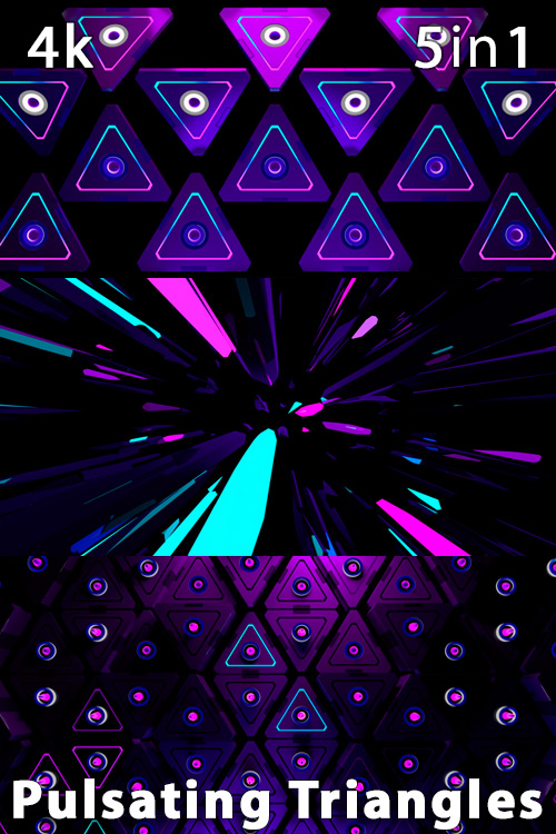 Pulsating Triangles 4K (5in1)