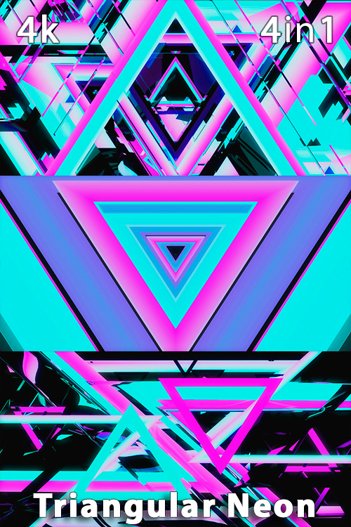 Triangular Neon 4K (4in1)