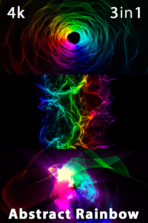 Abstract Rainbow 4K (3in1)