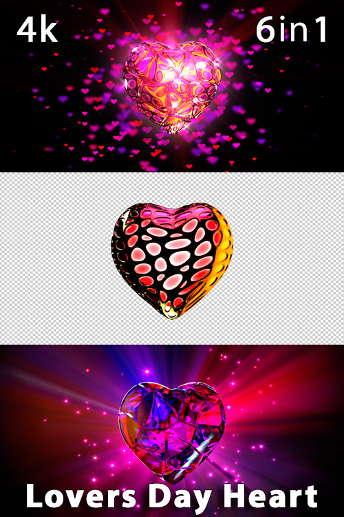 Lovers Day Heart 4K (6in1)