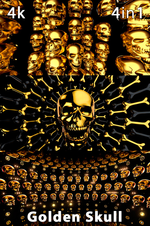 Golden Skull 4K (4in1)