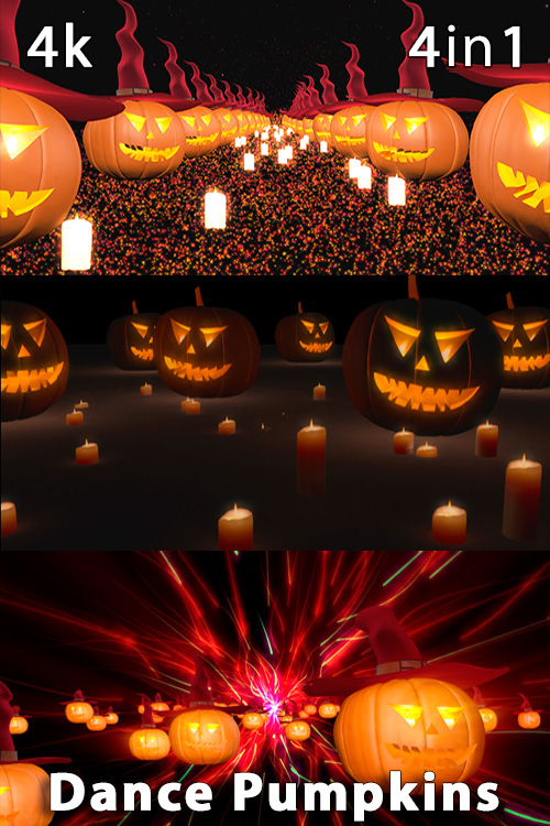 Dance Pumpkins 4K (4in1)