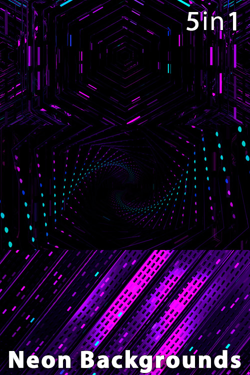 Neon Backgrounds (5in1)