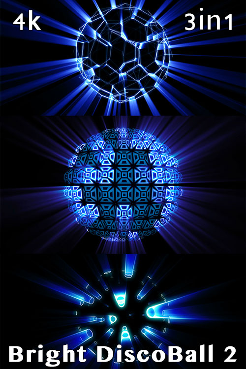 4K Bright Disco Ball 2 (3in1)