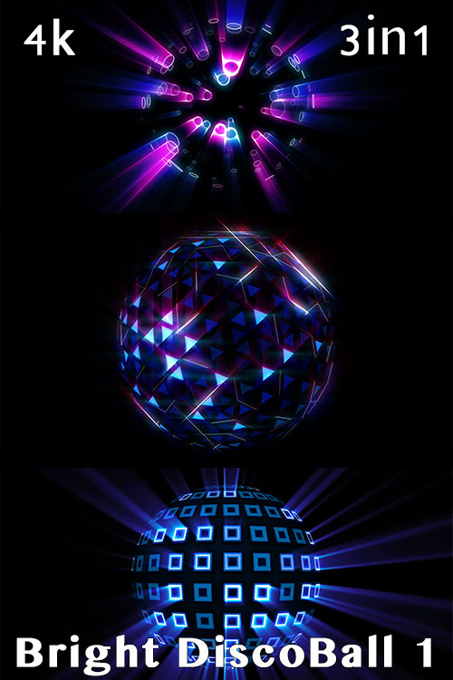 4K Bright Disco Ball 1 (3in1)