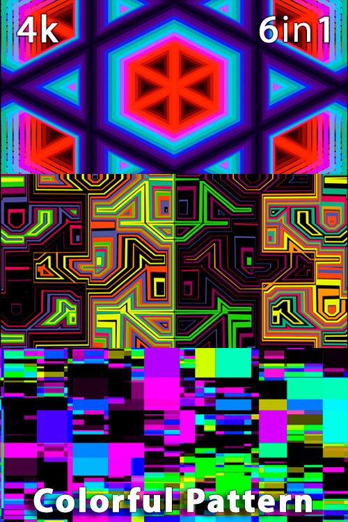 Colorful Pattern 4K (6in1)